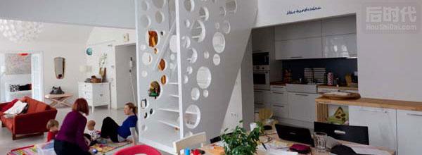"""""""奶酪楼梯""""可爱的室内设计"""