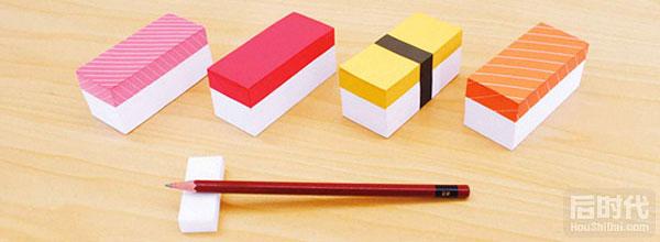 寿司便签条的创意设计Sushi memo