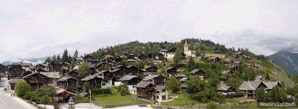 阿尔卑斯山上不可思议的圆
