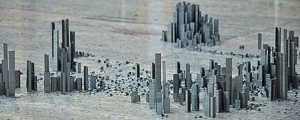 """""""订书钉""""艺术之一个城市的诞生"""