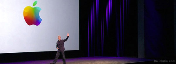 """苹果标志历史变化""""从彩色到彩色的演变"""""""