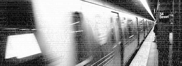 文字组成的地铁主题摄影