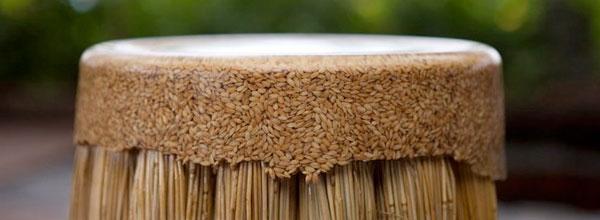 农作物环保凳子创意