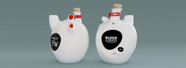 """葡萄之血""""心脏""""酒瓶"""