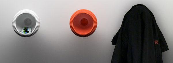 北欧设计圆形壁挂式衣架