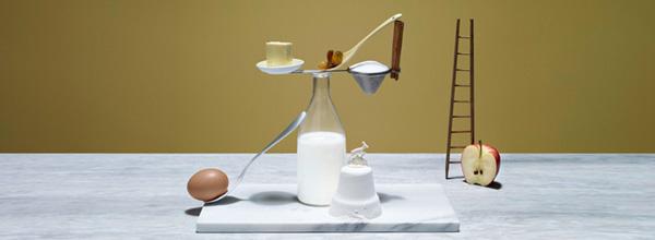 平衡的食物艺术摄影