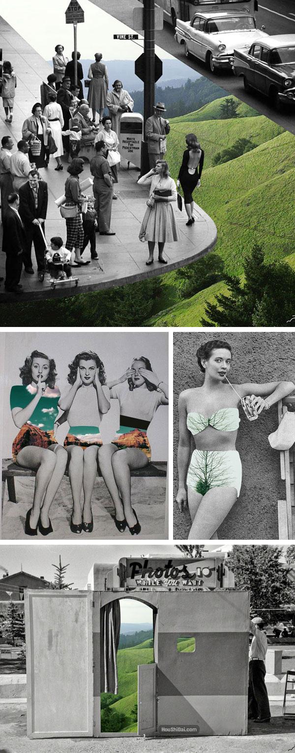 超现实彩色黑白老照片摄影