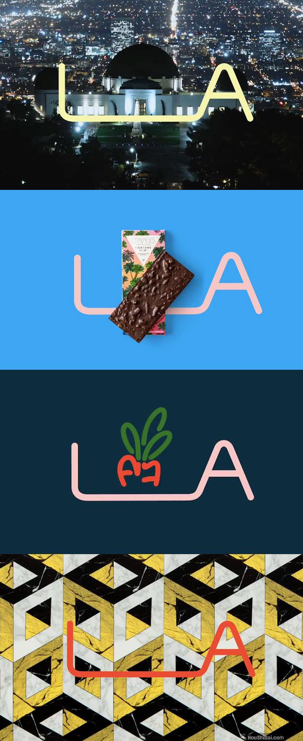 洛杉矶城市形象Logo创意设计