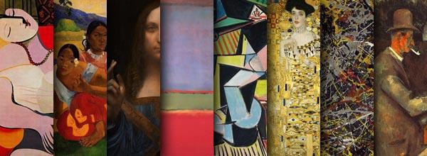 世界拍卖价格最高的绘画作品